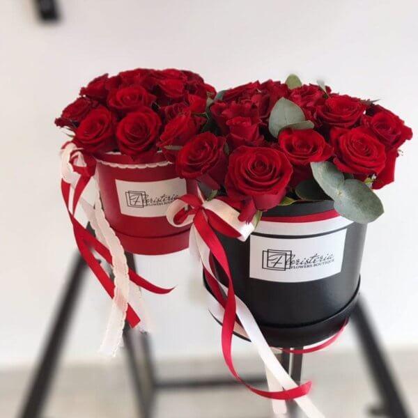 Box z 16 czerwonych róż