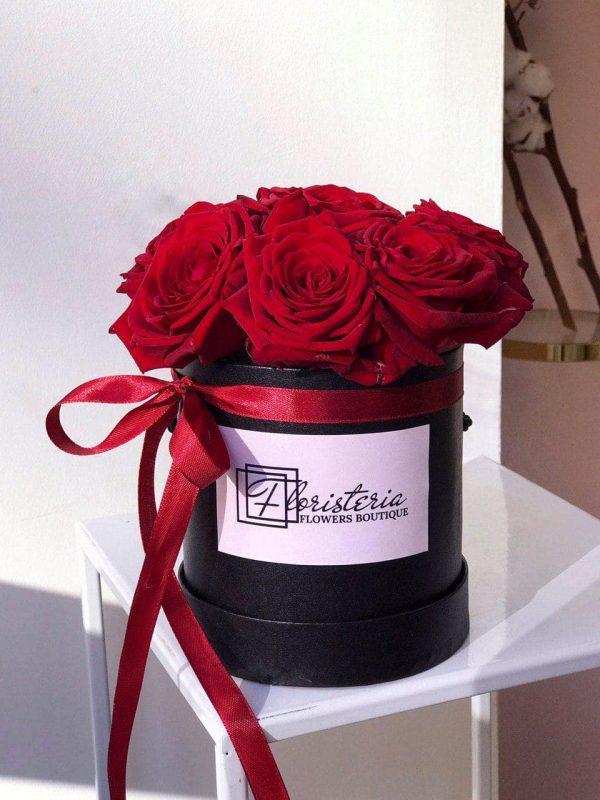 Czarny box z 7 róż