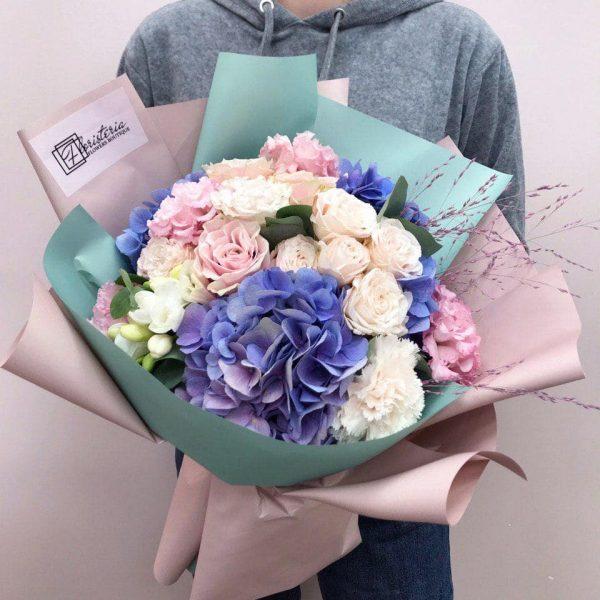 Bukiet mix z sezonowych kwiatów