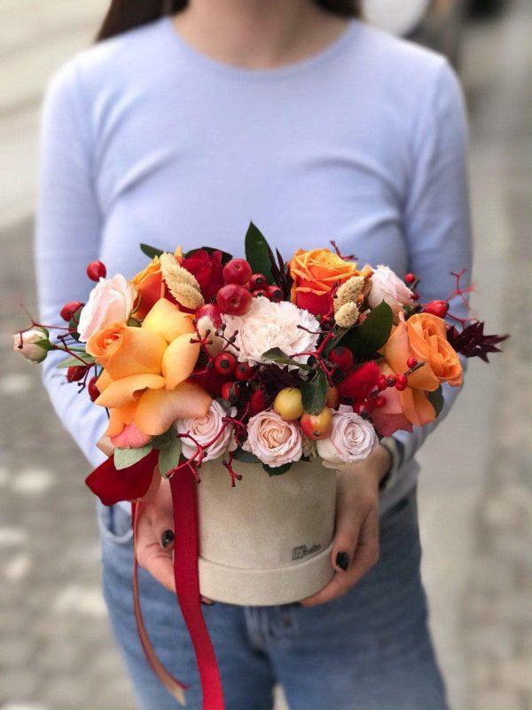 Jesienny flower box