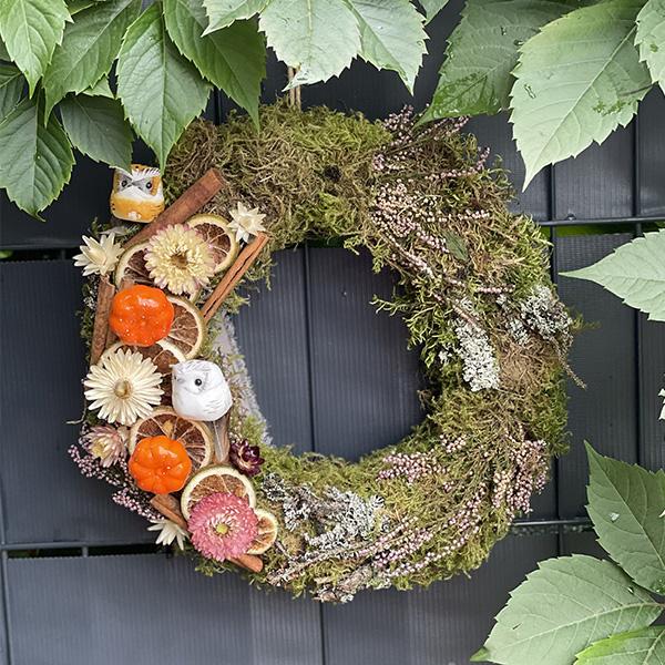 Jesienny wieniec 30 cm